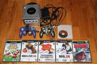 Console Gamecube + 2 manettes + 6 jeux