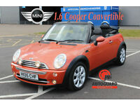2005 MINI 1.6 COOPER CONVERTIBLE CHEAP ORANGE PETROL CAR