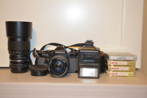 Old Yashica Camera and Accessories