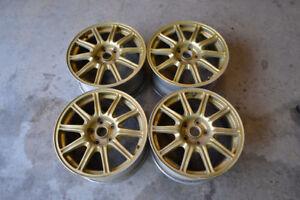 "05-07 BBS Subaru Impreza WRX STI Forged wheels. 5x114.3 17"""