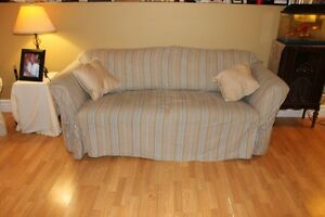 Sofa bed (queen size mattress) love seat and chair