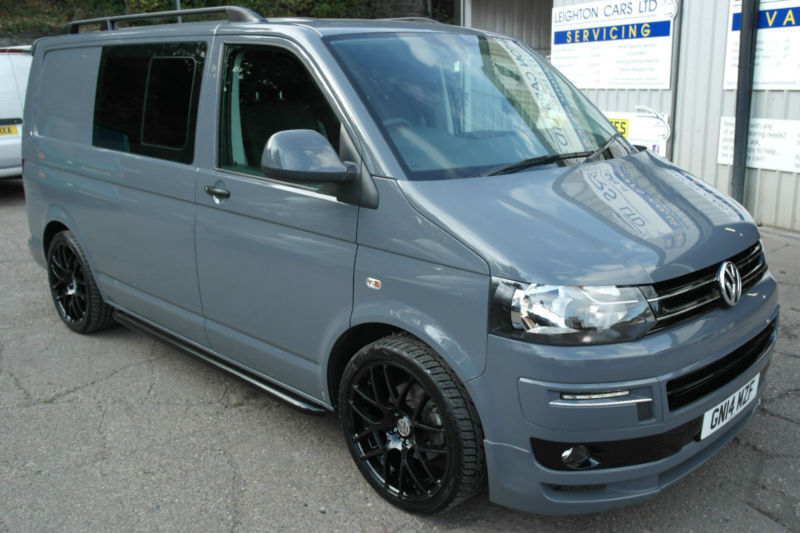 2014 14 vw transporter 2 0 140ps t5 sportline pk kombi pure grey 6 speed leather in deepcar. Black Bedroom Furniture Sets. Home Design Ideas
