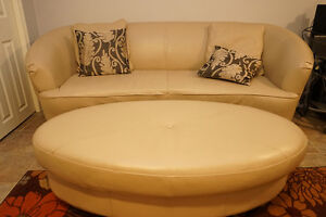 Palliser Real Leather Couch + with Pillows