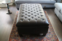 Unreal price for like new Italianleather ottoman from Urban Barn