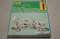 1979-1982 FIAT STRADA OWNER'S WORKSHOP MANUAL