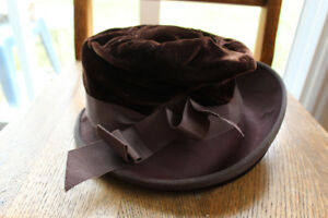 Vintage Brown Top Hat