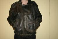 Veste de moto en cuir homme ou femme payé 450 $ - gr. 10-12