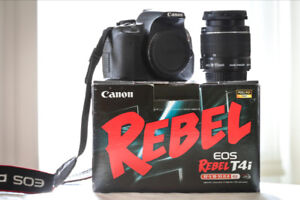 Canon Rebel t4i w/box and 18-55mm lens