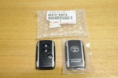 TOYOTA LAND CRUISER PRADO 150 REMOTE KEY SHELL CASE Argento Cross