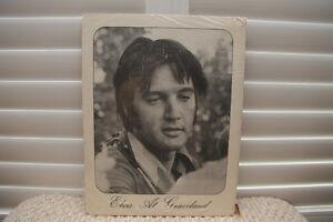 Elvis at Graceland Print (Black and White Poster)