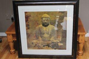 Large framed Buddha pic