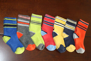 7 Pairs of Coloured Socks