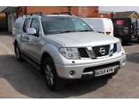 2009 Nissan Navara Double Cab Pick Up Tekna 2.5dCi 171 4WD Diesel silver Manual