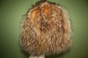Vintage genuine fox fur hat