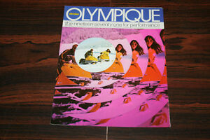Vintage Original 1971 Ski-Doo Olympique Brochure