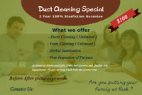 100% Satisfication Complete Air Duct Cleaning services $99 only