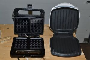 Belgian waffle maker and small grill