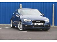 AUDI A3 TDI S LINE 2.0 DIESEL MANUAL FINISHED OFF IN SCUBA BLUE METALLIC