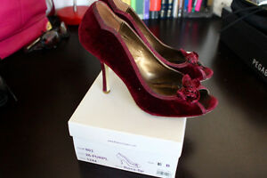 Purple suede pumps from Bakers, size 8.5