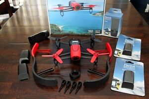 Extras! Parrot Bepob Drone, 4 batteries, 2 chargers, feet, cover
