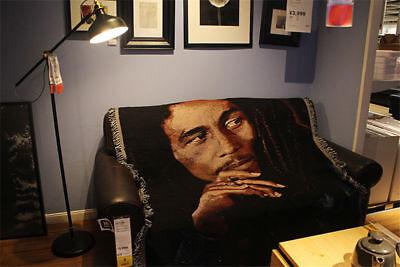 Bob Marley Tapestry Woven Blanket Rug Throw Decoration Rock Art Reggae 50