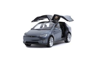 TESLA DIE CAST Model X P100D, replica 1:18 ( Gray )
