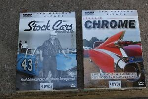 CLASSIC AUTOS AND  STOCK CARS ON 8 DVDs unopened London Ontario image 1