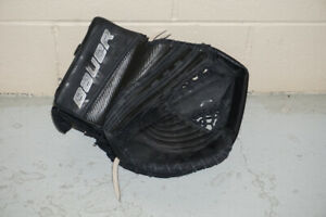 Bauer glove and Reebok blocker, Goalie equipment , used