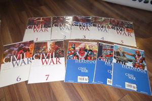 Civil War Comic books from marvel