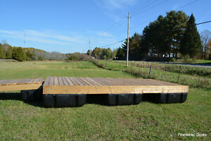 8 x 16 pressure treated floating dock with 4 x 16 ramp Kingston Kingston Area image 2