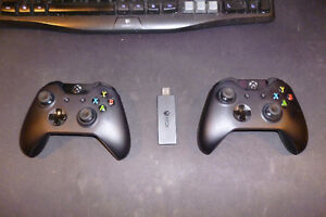 2 Xbox One controllers w/ PC adapter