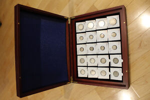 Canada Silver King George Collection in Cherry Collectors Case