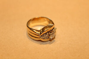One Ladies Stamped 14kt, Diamond Ring Set.