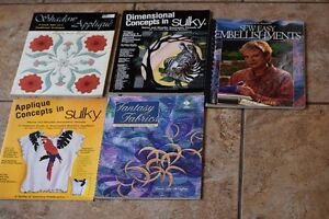 QUILTING EMBROIDERY APPLIQUE 5 BOOKS