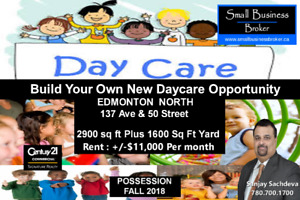 DAYCARE OPPURTUNITY IN NORTH EDMONTON