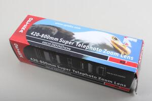Opteka 420 to 800 mm Telephoto Lens. Tripod Mount NEW!