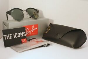 Ray Ban Clubround - Black and Silver