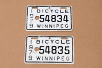 Vintage Consecutive Bicycle Plates