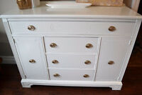 High Gloss White Buffet Sideboard Credenza