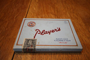 VINTAGE PLAYERS NAVY CUT CARDBOARD CIGARETTE TOBACCO TIN