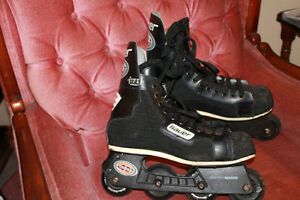 Used Men's Bauer Off Ice Hockey Skates (Roller blades) - size 8