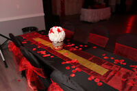 CHAIR COVERS, SASHES, TABLECLOTHS FOR RENTAL