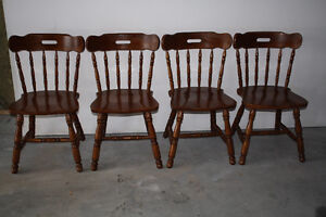 Charming Country Maple Dining Chairs