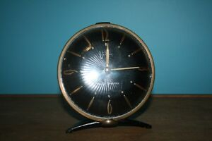 Vintage Black and Gold Clock of Tomorrow