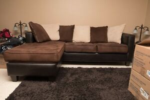 Swade and plether Sectional couch with Laydown Extention.