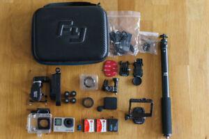 GoPro HERO 4 Black + Stabilisateur Feiyu Tech FY-WG + Accessoire