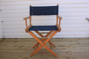 DIRECTOR'S  CHAIR - SOLID  WOODEN  CONSTRUCTION
