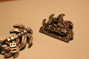 2-- Daytona Motorcycle  Pewter  Pins (VIEW OTHER ADS)