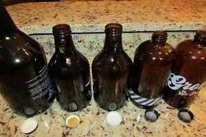 5 glass growlers