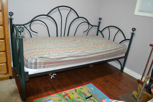 Green Metal Day Bed